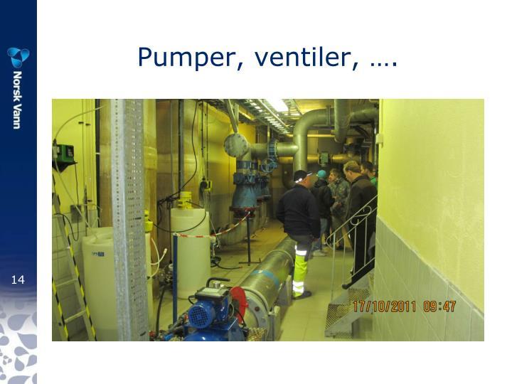 Pumper, ventiler, ….