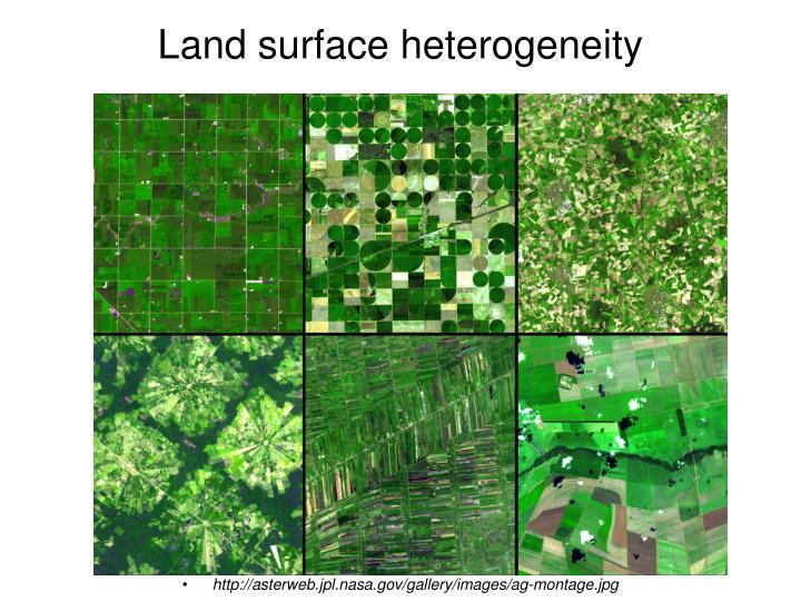 Land surface heterogeneity
