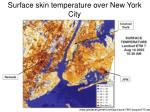 surface skin temperature over new york city