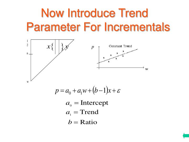 Now Introduce Trend Parameter For Incrementals