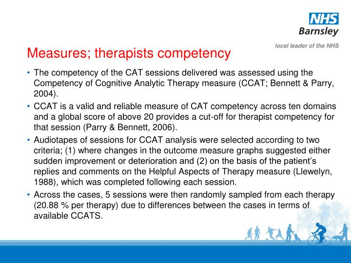 Measures; therapists competency