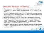 measures therapists competency