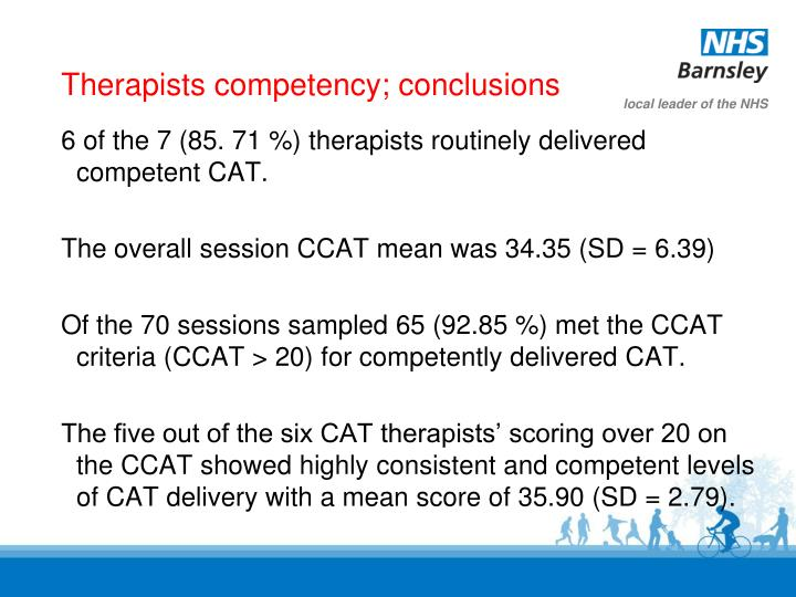 Therapists competency; conclusions