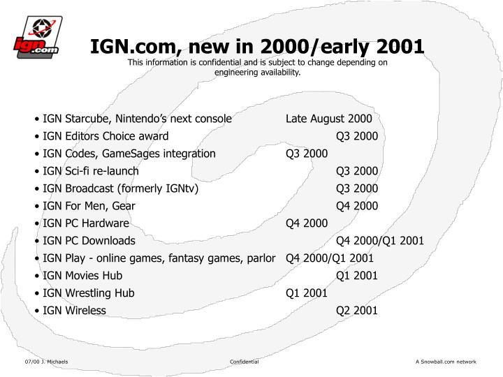 IGN.com, new in 2000/early 2001