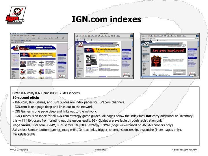 IGN.com indexes