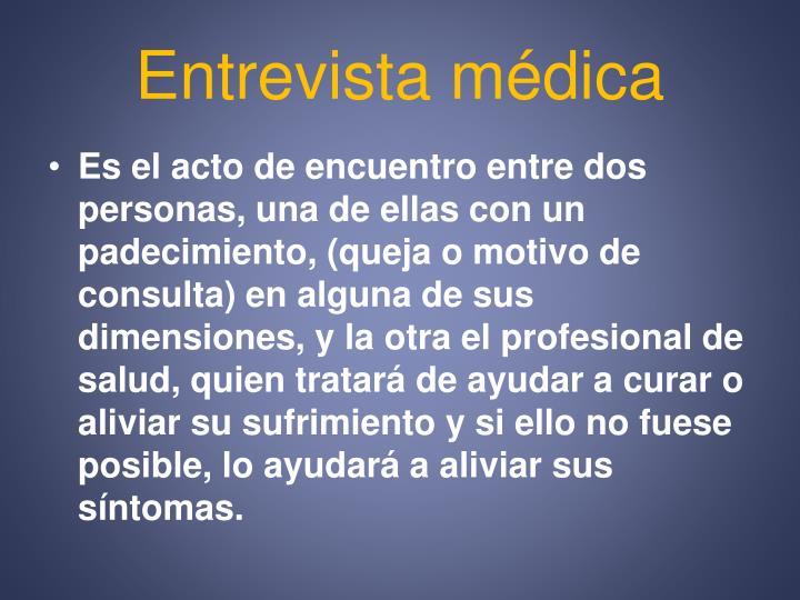 Entrevista médica