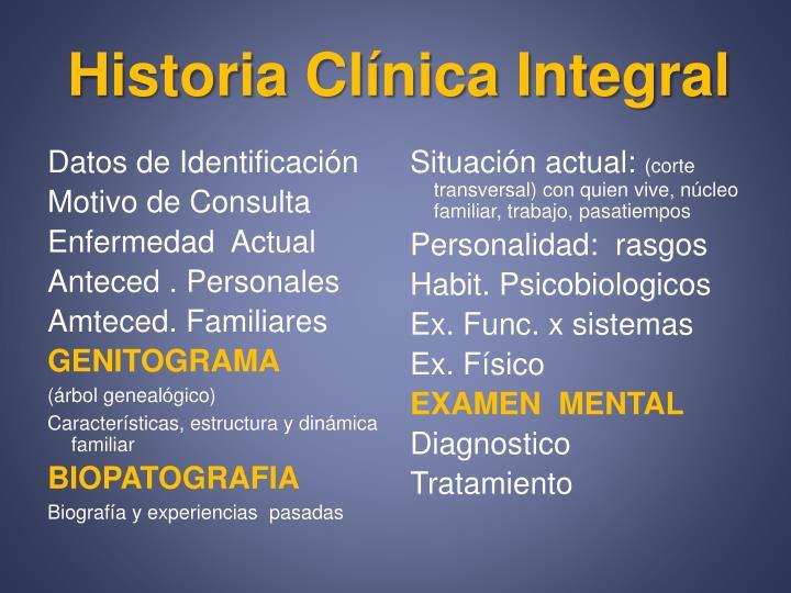 Historia Clínica Integral