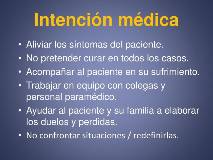 Intención médica