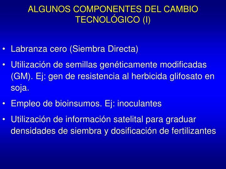 ALGUNOS COMPONENTES DEL CAMBIO TECNOLÓGICO (I)