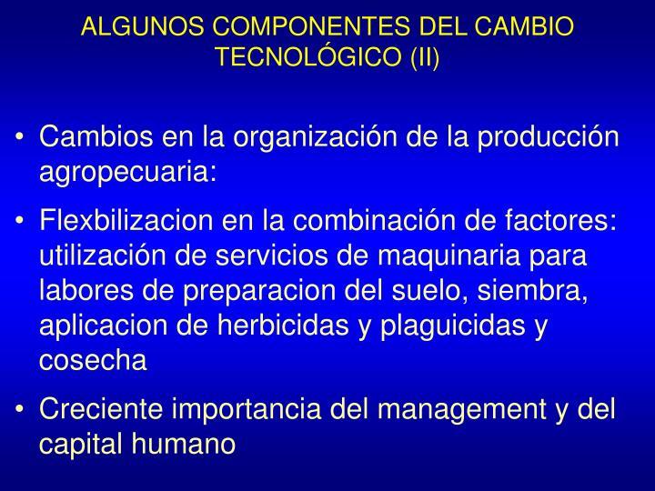 ALGUNOS COMPONENTES DEL CAMBIO TECNOLÓGICO (II)