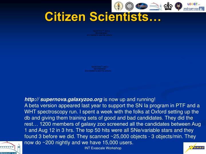 Citizen Scientists…