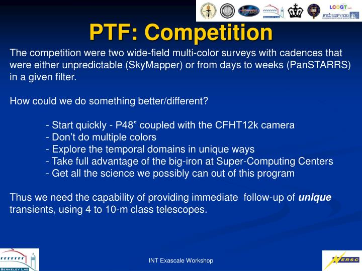 PTF: Competition