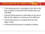 calculation of family pension