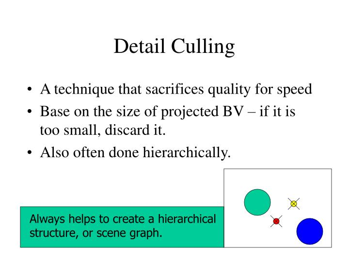 Detail Culling