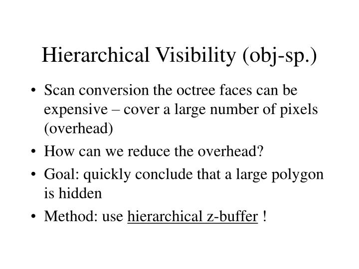 Hierarchical Visibility (obj-sp.)
