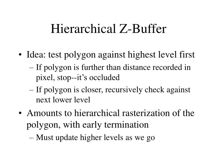 Hierarchical Z-Buffer