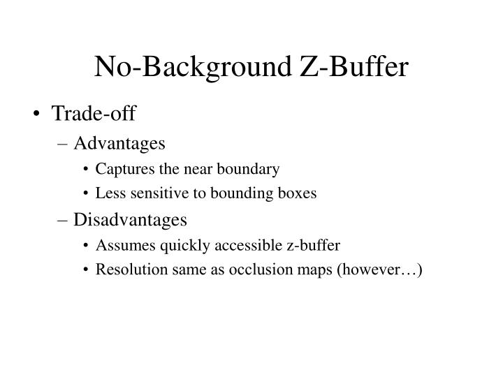 No-Background Z-Buffer