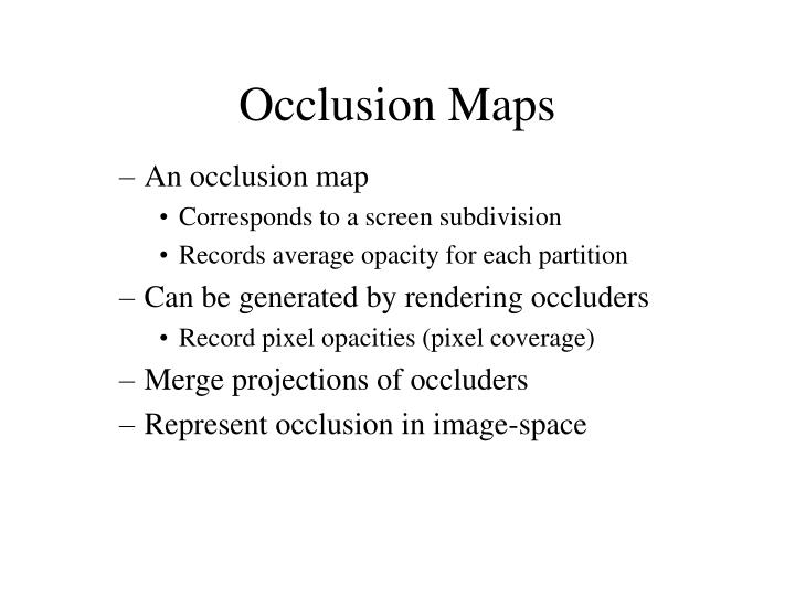 Occlusion Maps
