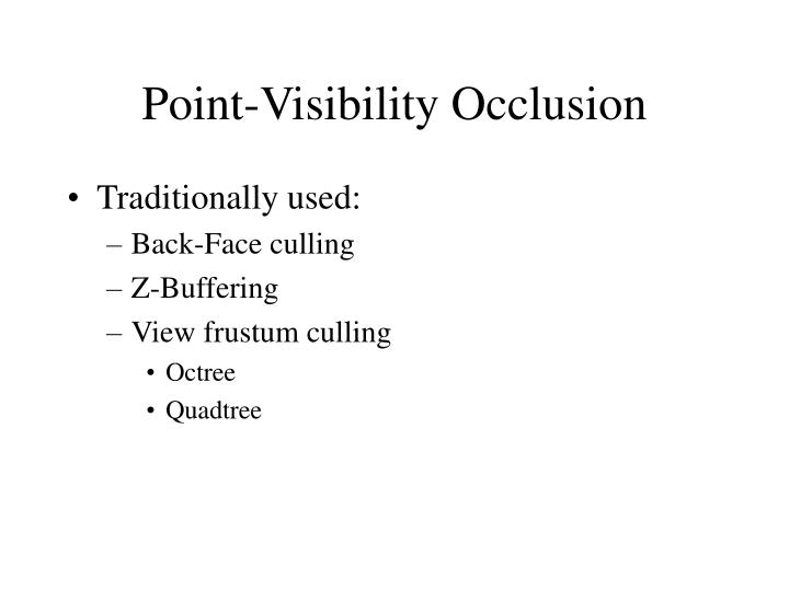 Point-Visibility Occlusion