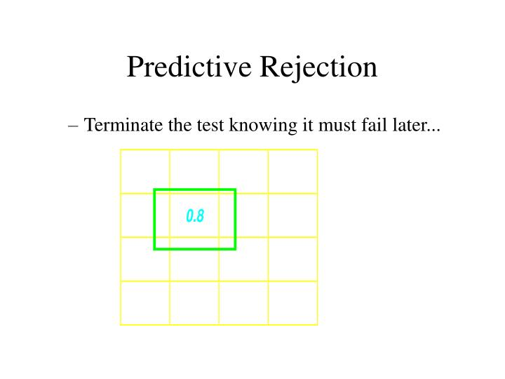 Predictive Rejection