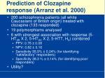 prediction of clozapine response arranz et al 2000