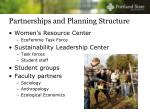 partnerships and planning structure