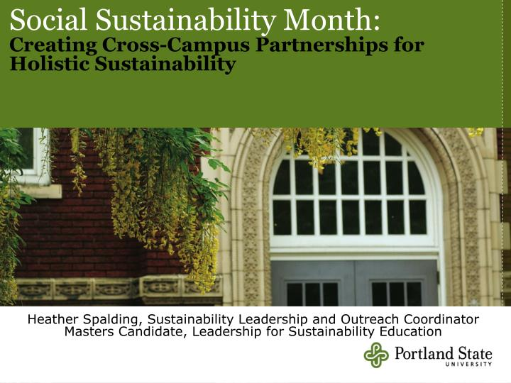 Social Sustainability Month: