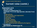 current rules contd
