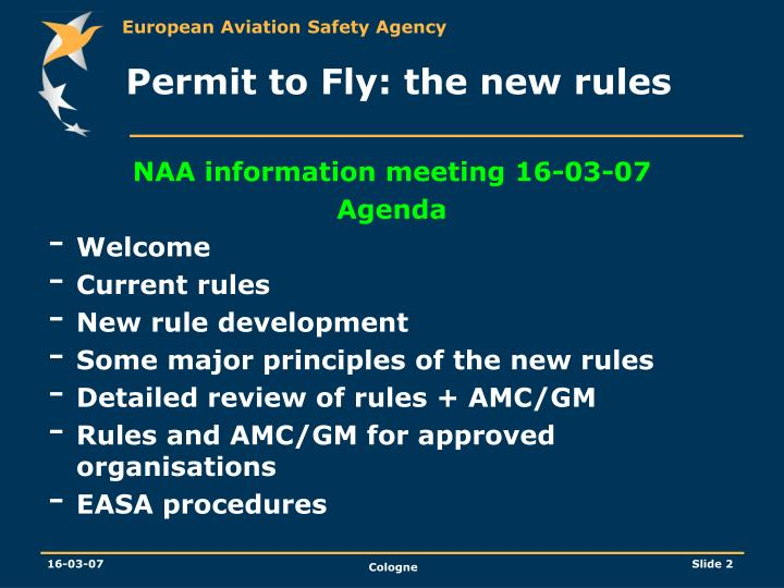 Permit to fly the new rules1