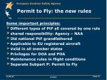 permit to fly the new rules2