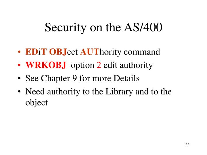 Security on the AS/400