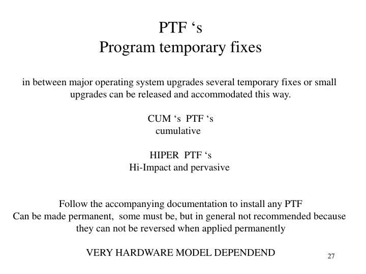 PTF 's