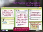 new revenue from applications web 2 0 webtop