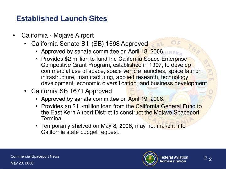 Established Launch Sites