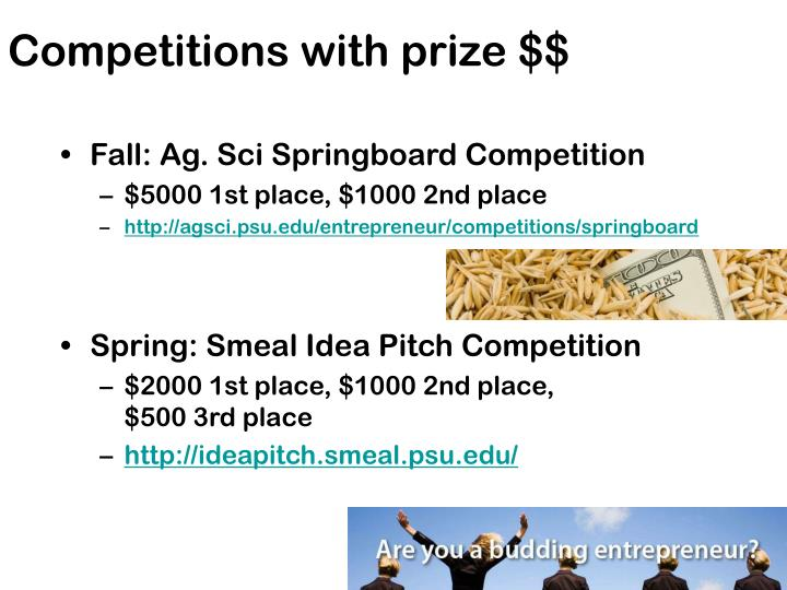 Competitions with prize $$