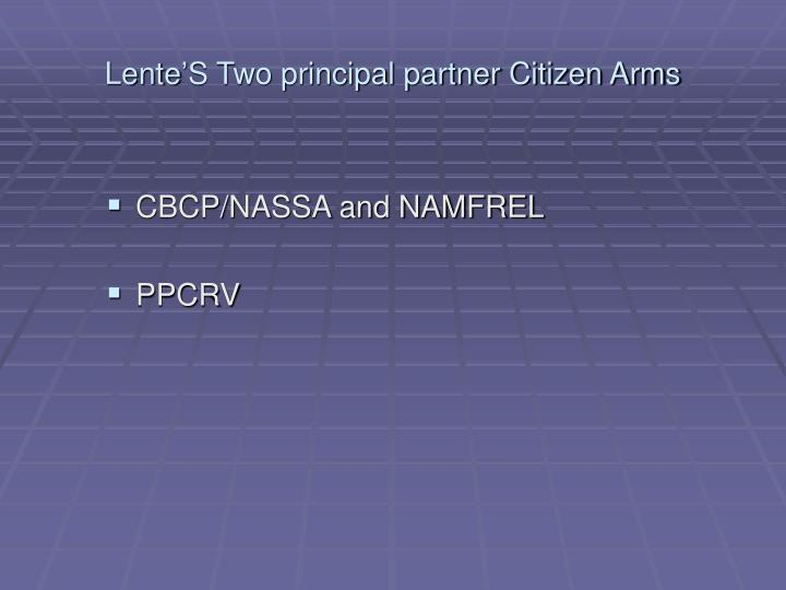 Lente s two principal partner citizen arms