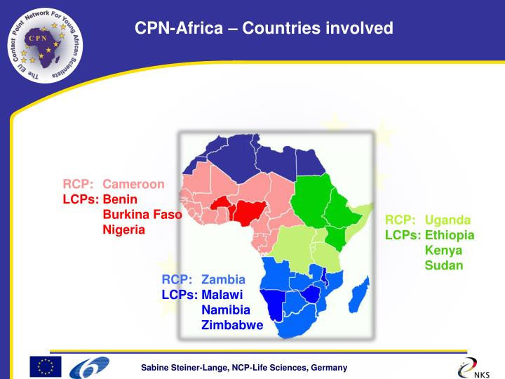 CPN-Africa – Countries involved