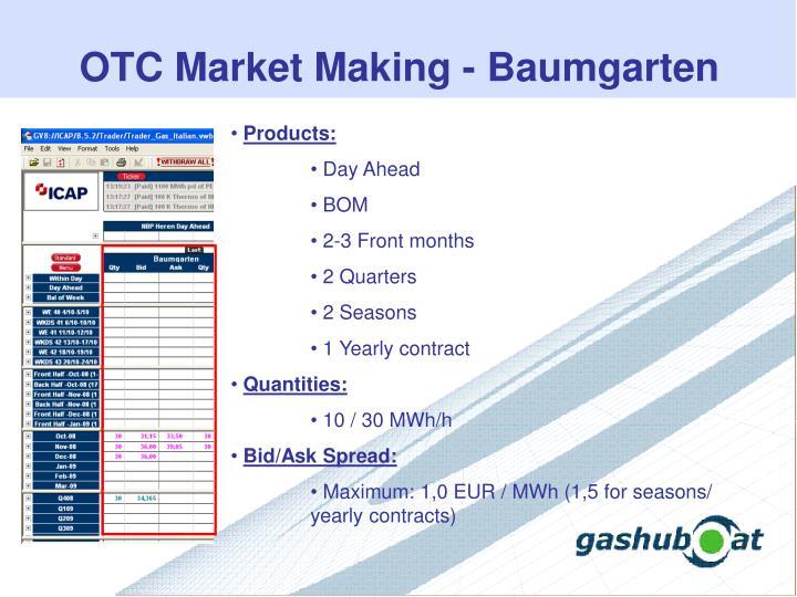 OTC Market Making - Baumgarten