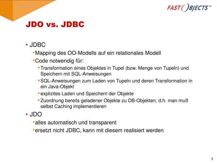 JDO vs. JDBC