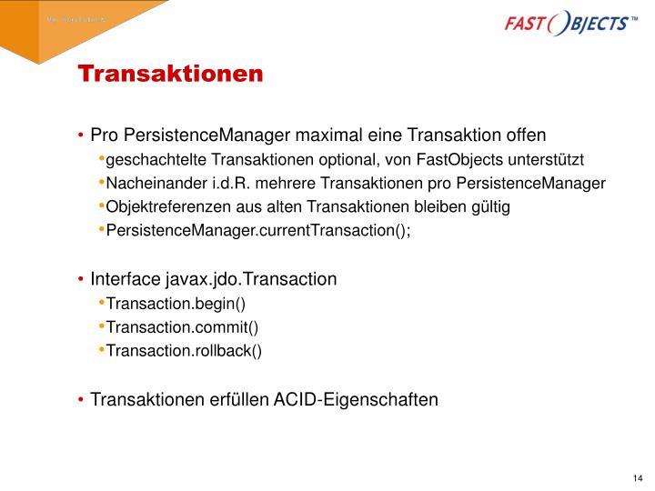 Transaktionen