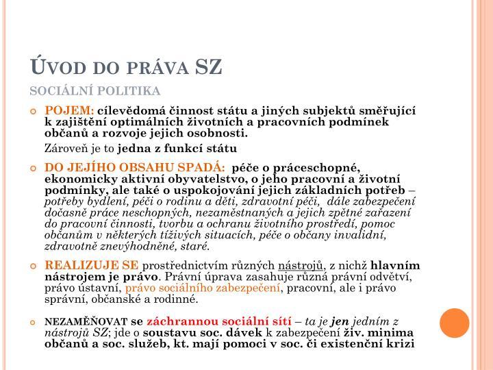Úvod do práva SZ