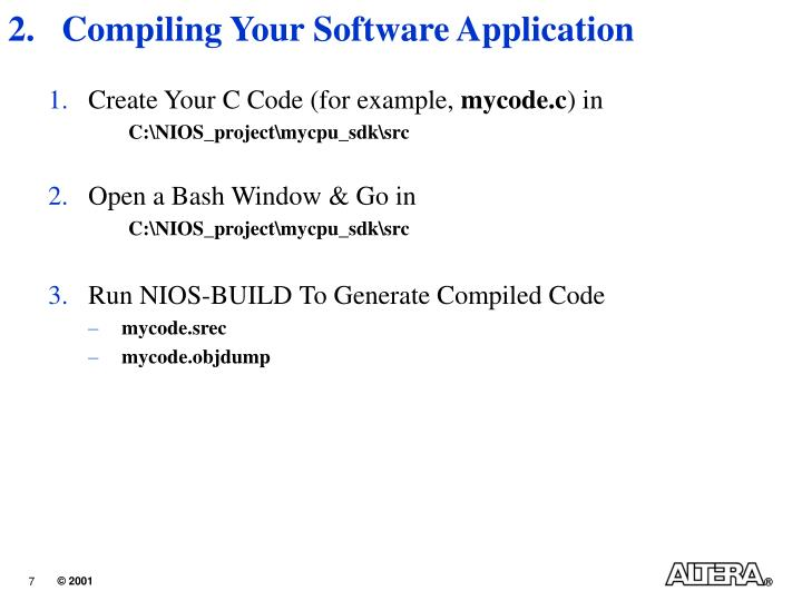 Compiling Your Software