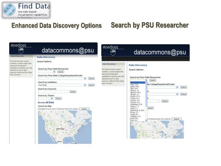 Enhanced Data Discovery Options