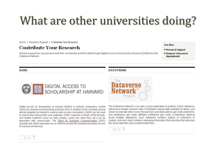 What are other universities doing?