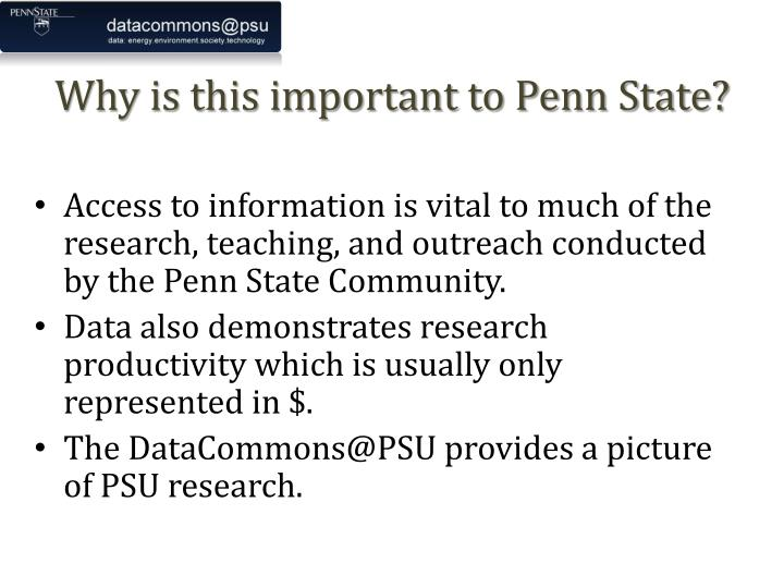 Why is this important to Penn State?