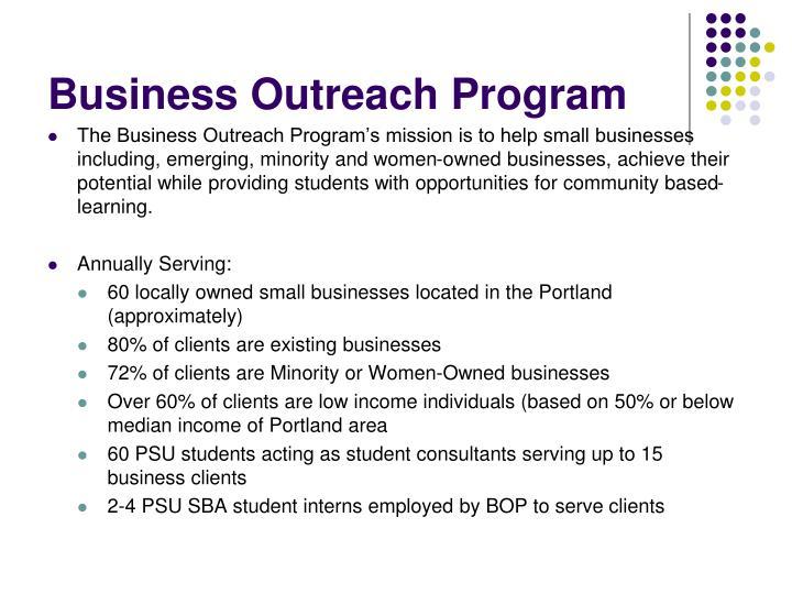 Business Outreach Program