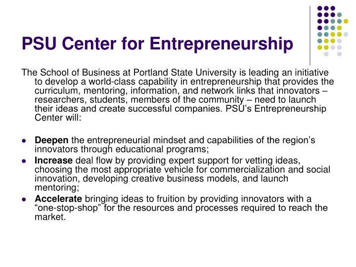 PSU Center for Entrepreneurship