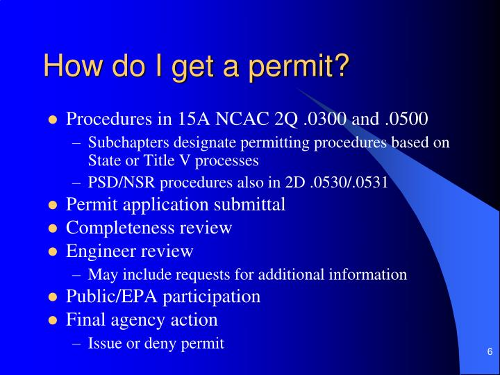 How do I get a permit?
