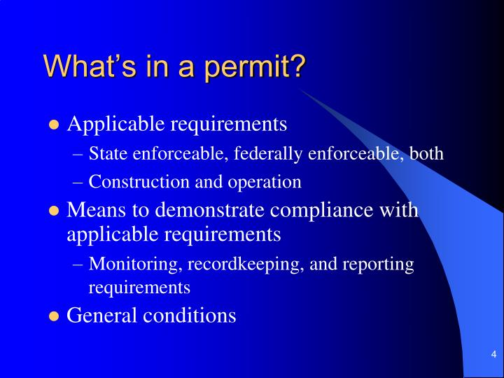 What's in a permit?