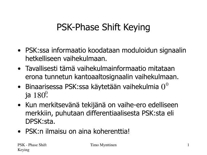 psk phase shift keying